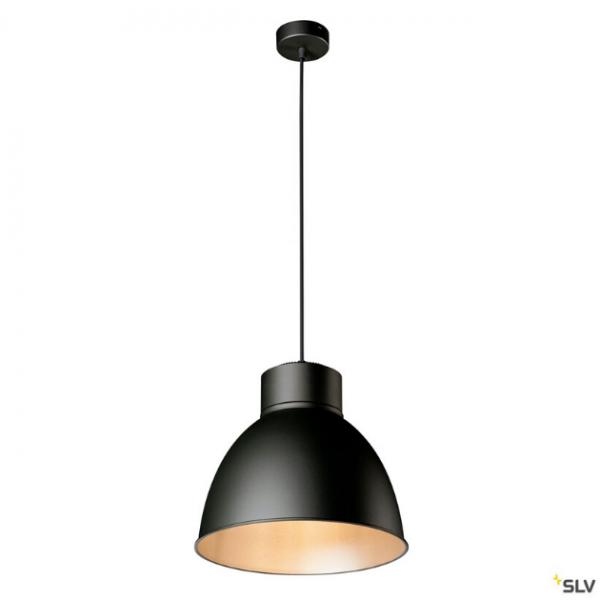 SLV 132600 + 1002053 + 1002056 Para Dome, Pendelleuchte, schwarz, E27, max.150W