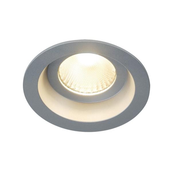 SLV 160634 Boost, Deckeneinbauleuchte, silbergrau, IP44, LED, 9W, 3000K, 640lm