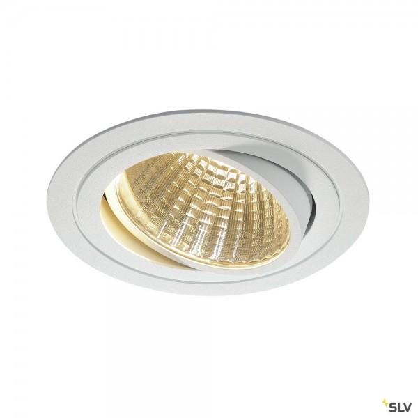SLV 114271 New Tria 1 Set, Einbauleuchte, weiß, dimmbar 1-10V, LED, 29W, 3000K, 2500lm