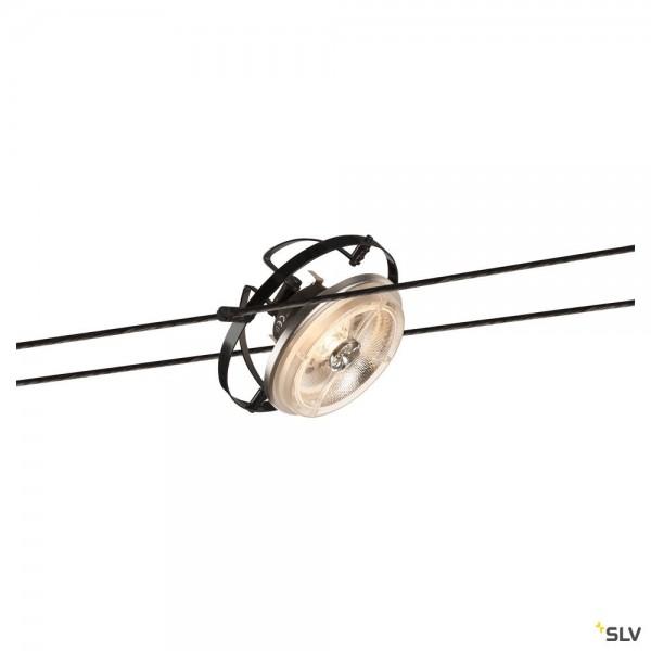 SLV 139110 QRB, Seilsystem, Strahler, schwarz, G53, max.50W