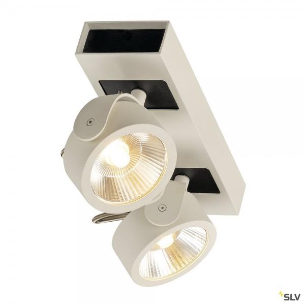SLV 1000130 Kalu, Strahler, weiß/schwarz, dimmbar C, LED, 34W, 3000K, 2000lm, 60°