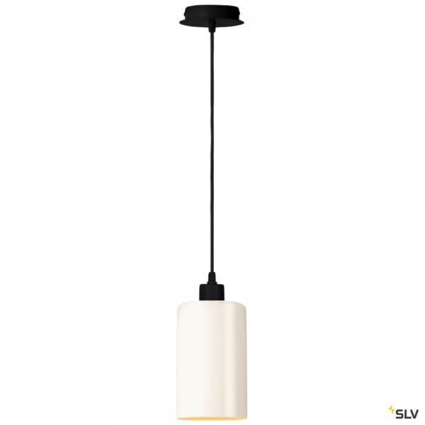 SLV 155560 + 1002217 Fenda, Pendelleuchte, schwarz/weiß, E27, max.60W