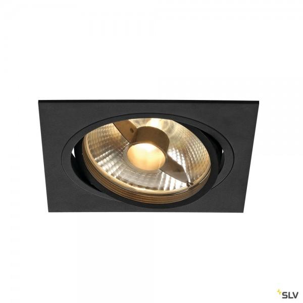 SLV 113830 New Tria 1, Deckeneinbauleuchte, schwarz matt, QPAR111, GU10, max.75W