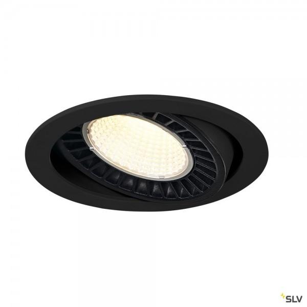 SLV 1003303 Supros, Deckeneinbauleuchte, schwarz, LED, 31W, 4000K, 2700lm