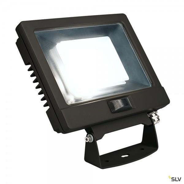 SLV 232890 Spoodi Sensor, Strahler, schwarz, mit Netzstecker, IP65, LED, 30W, 4000K, 2500lm