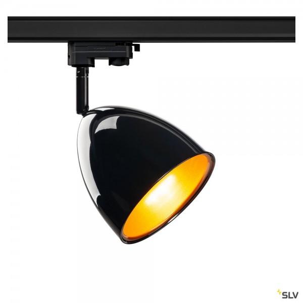 SLV 1002876 Para Cone 14, 3Phasen, Strahler, schwarz, QPAR51, GU10, max.25W