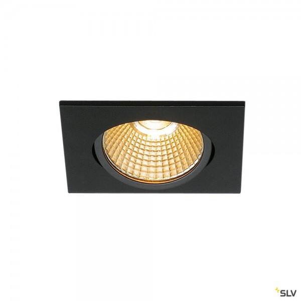 SLV 1003068 New Tria 68, Deckeneinbauleuchte, schwarz, dimmbar L, LED, 11W, 2700K, 800lm