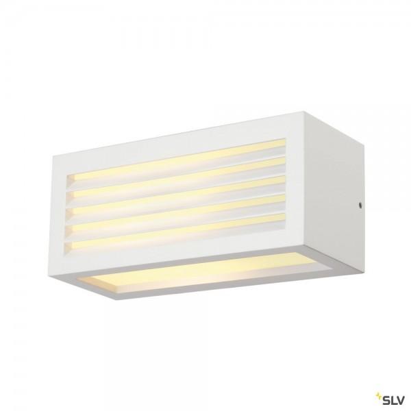SLV 232491 Box-L, Wandleuchte, weiß, up&down, IP44, E27, max.18W