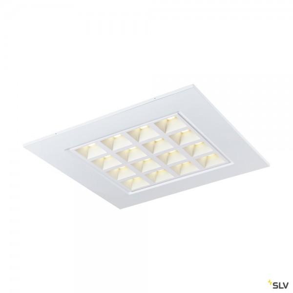 SLV 1003079 Pavano, Deckeneinbauleuchte, weiß, 62x62cm, LED, 25W, 4000K, 3550lm
