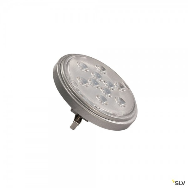 SLV 560622 Leuchtmittel, silbergrau, G53, LED, 9W, 2700K, 800lm, 13°