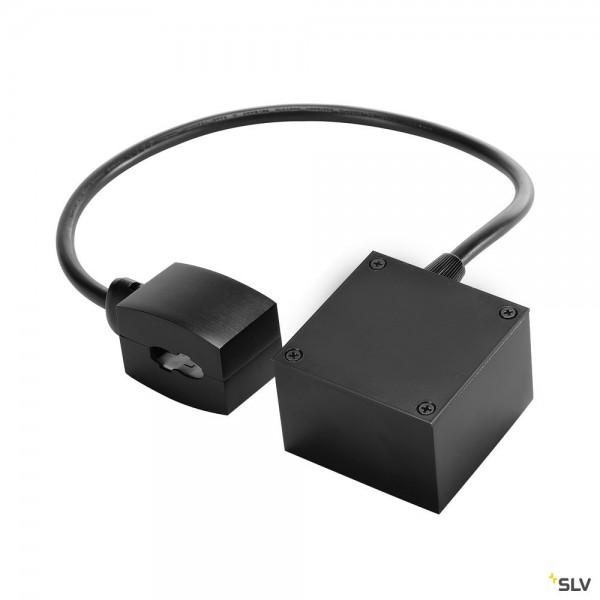 SLV 184004 Easytec II, Kabeleinspeiser mit Deckenrosette, schwarz
