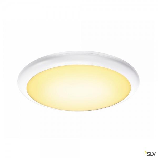 SLV 1001911 Ruba 20, Wand- und Deckenleuchte, weiß, IP65, LED, 27W, 3000K/4000K, 2500lm