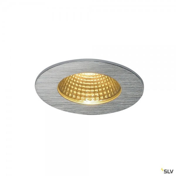 SLV 114426 Patta-I, Einbauleuchte, alu gebürstet, IP65, dimmbar Triac C+L, LED, 12W, 3000K, 910lm