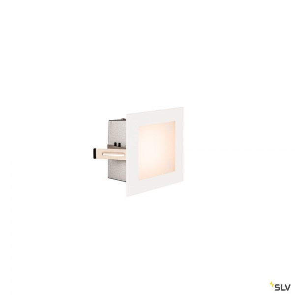 SLV 1000576 Frame Basic, Wand- und Deckeneinbauleuchte, weiß, LED, 3,1W, 2700K, 140lm