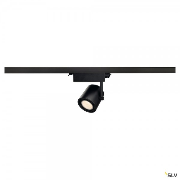 SLV 1003295 Supros Track, 3Phasen, Strahler, schwarz, LED, 36W, 3000K, 3380lm