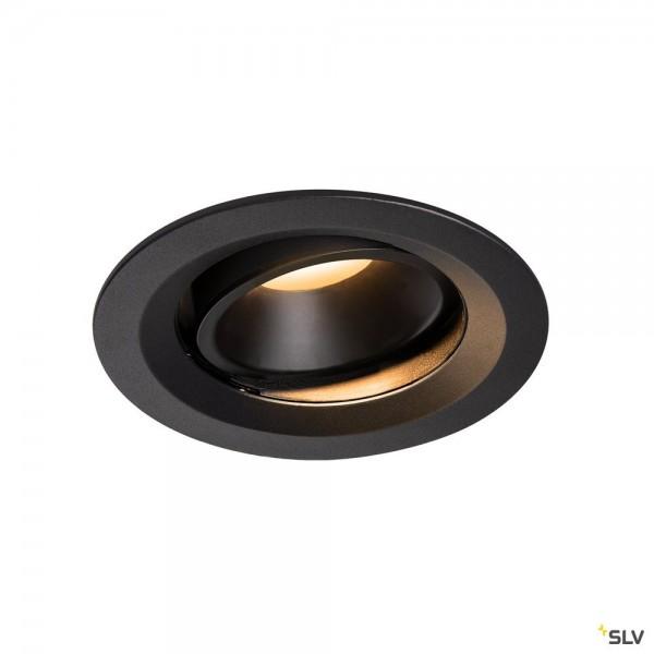 SLV 1003553 Numinos Move M, Deckeneinbauleuchte, schwarz, LED, 17,55W, 2700K, 1460lm, 20°