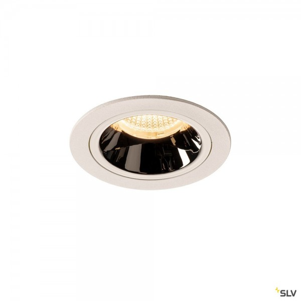 SLV 1003882 Numinos M, Deckeneinbauleuchte, weiß/chrom, LED, 17,55W, 3000K, 1550lm, 40°
