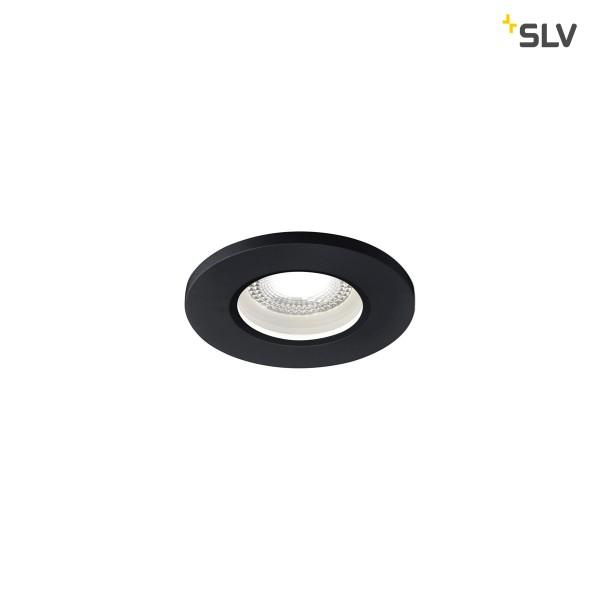 SLV 1001013 Kamuela, Deckeneinbauleuchte, schwarz, IP65, dimmbar Triac C+L, LED, 8W, 4000K, 600lm