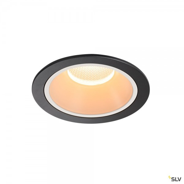 SLV 1003989 Numinos XL, Deckeneinbauleuchte, schwarz/weiß, LED, 37,4W, 2700K, 3500lm, 40°