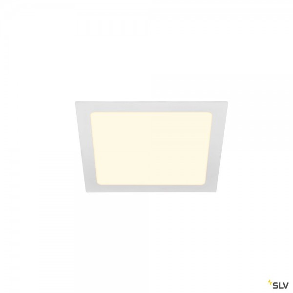 SLV 1003013 Senser 24, Deckeneinbauleuchte, weiß, LED, 12,5W, 3000K, 1200lm