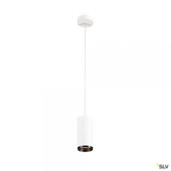 SLV 1004255 Numinos M, Pendelleuchte, weiß/schwarz, dimmbar C, LED, 20,1W, 3000K, 1950lm, 36°