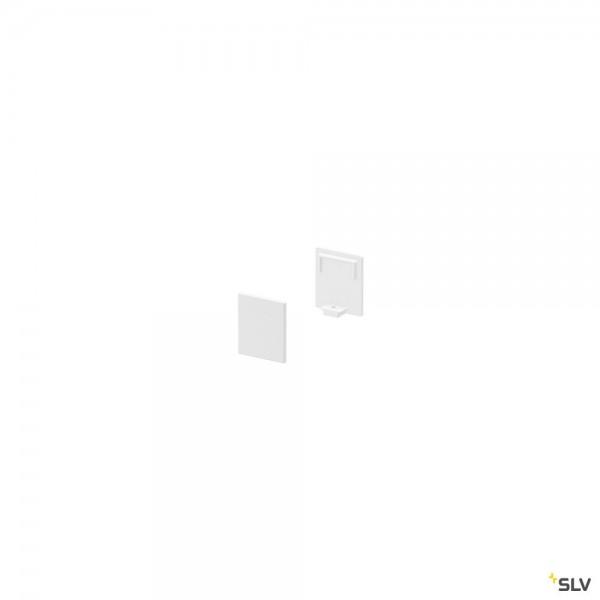 SLV 1000482 Grazia 10, Endkappen, weiß, hoch, 2 Stück