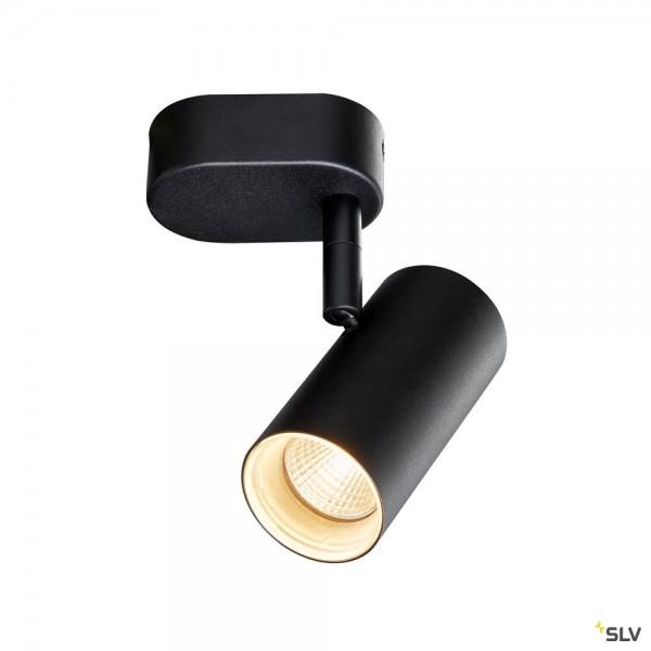 SLV 1002969 Noblo I, Strahler, schwarz, dimmbar Triac C+L, LED, 8W, 2700K, 600lm