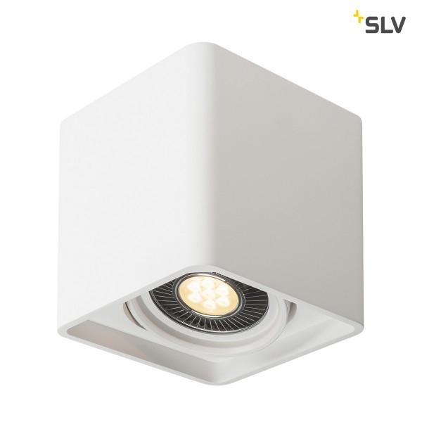 SLV 148081 Plastra, Deckenleuchte, weiß, QPAR111, LED GU10, max.17W