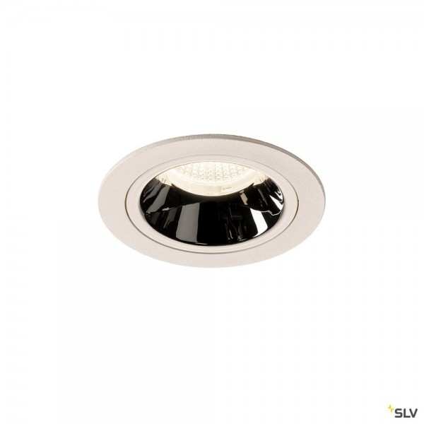 SLV 1003906 Numinos M, Deckeneinbauleuchte, weiß/chrom, LED, 17,55W, 4000K, 1660lm, 40°