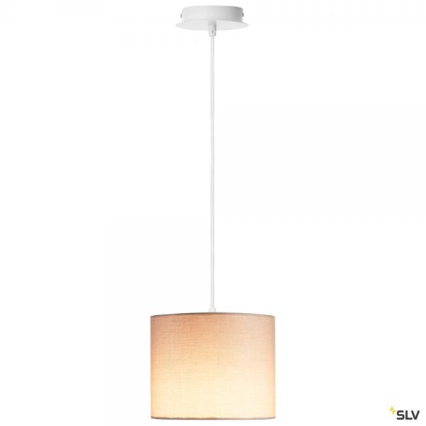 SLV 155561 + 1001454 Fenda, Pendelleuchte, weiß/beige, Ø20cm, E27, max.60W