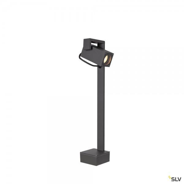 SLV 1004654 Theo Bracket 50, Standleuchte, anthrazit, IP65, QPAR51, GU10, max.7W