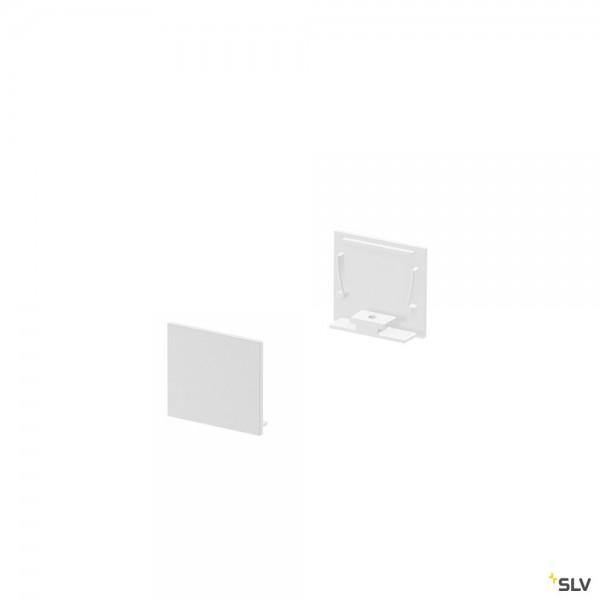 SLV 1000566 Grazia 20, Endkappen, weiß, flach, 2 Stück