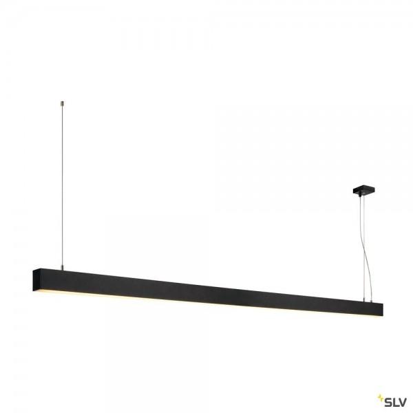 SLV 1001406 Glenos, Pendelleuchte, schwarz matt, dimmbar 1-10V, LED, 85W, 3000K, 5700lm