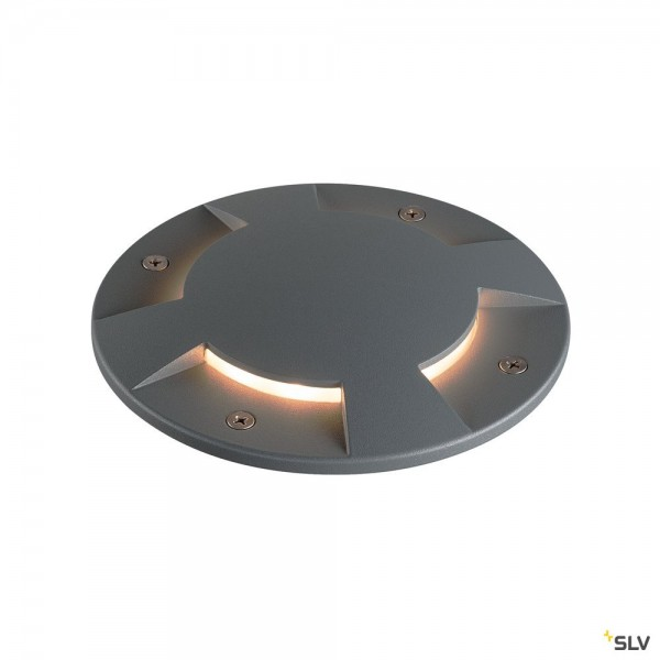 SLV 1001256 + 1001263 Big Plot, Bodenleuchte, IP67, anthrazit, LED, 5,5W, 3000K, 460lm
