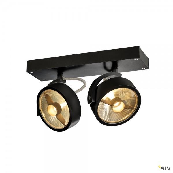 SLV 1000703 Kalu, Strahler, schwarz, QPAR111, GU10, max.2x75W