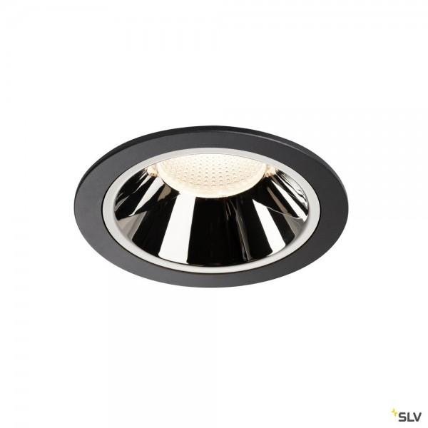 SLV 1004038 Numinos XL, Deckeneinbauleuchte, schwarz/chrom, LED, 37,4W, 4000K, 3750lm, 40°