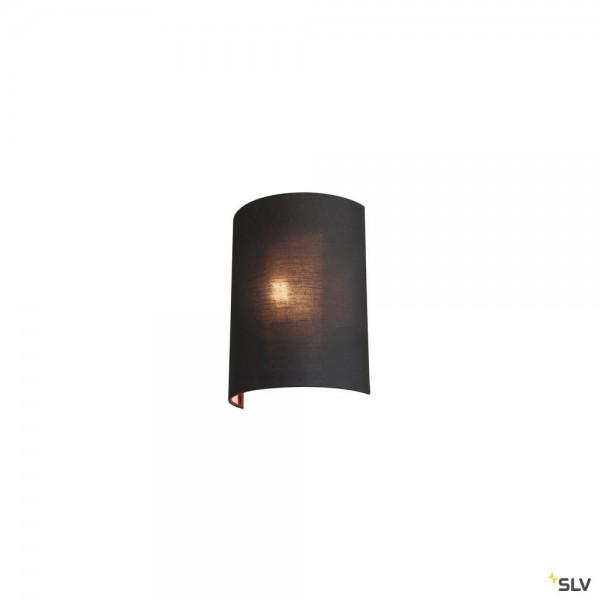 SLV 1001272 + 1001274 Fenda, Wandleuchte, schwarz/kupfer, E27, max.60W
