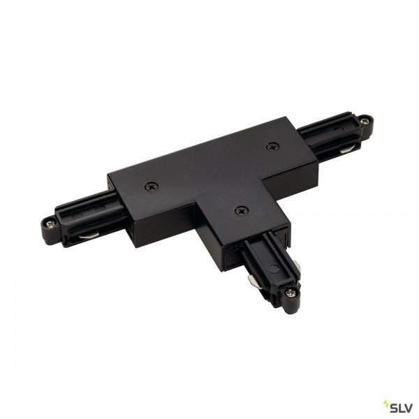 SLV 143080 1 Phasen, Aufbauschiene, T-Verbinder, Erde rechts, schwarz