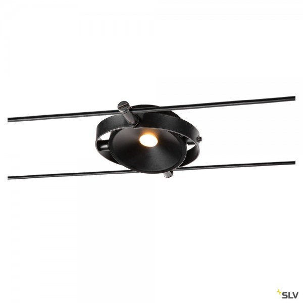 SLV 1002861 Durno, Seilsystem, Strahler, schwarz, LED, 6W, 2700K, 360lm