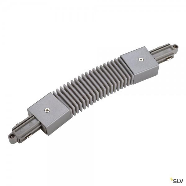 SLV 143112 1 Phasen, Aufbauschiene, Flexverbinder, silbergrau