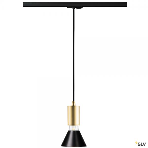 SLV 143120 + 1002167 + 1001955 Fitu, 1 Phasen, Pendelleuchte, gold/schwarz, E27, max.10W