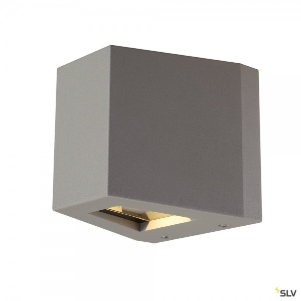 SLV 229664 Out-Beam, Wandleuchte, silbergrau, Beam up & Flood down, IP44, LED, 18W, 3000K, 690lm