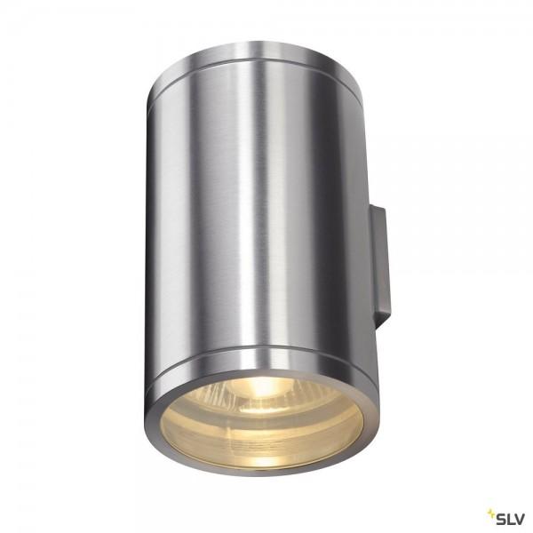SLV 1000334 Rox, Wandleuchte, alu gebürstet, up&down, IP44, QPAR111, GU10, max.2x50W