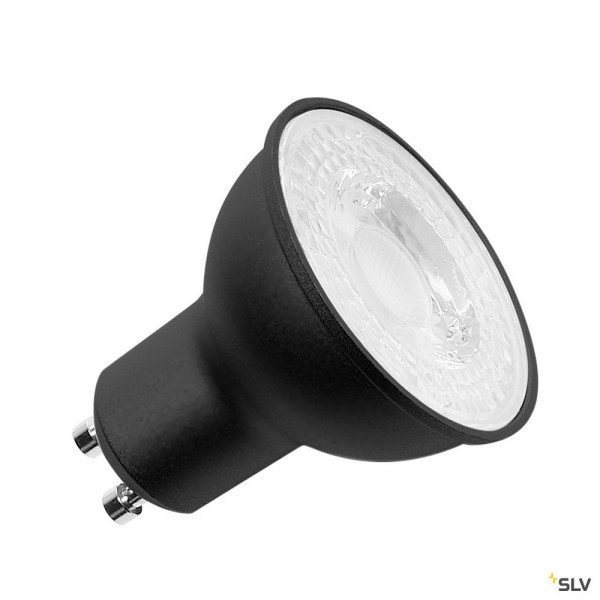 SLV 1001566 Leuchtmittel, schwarz, dimmbar C+L, QPAR51, GU10, LED, 7,2W, 4000K, 590lm, 36°