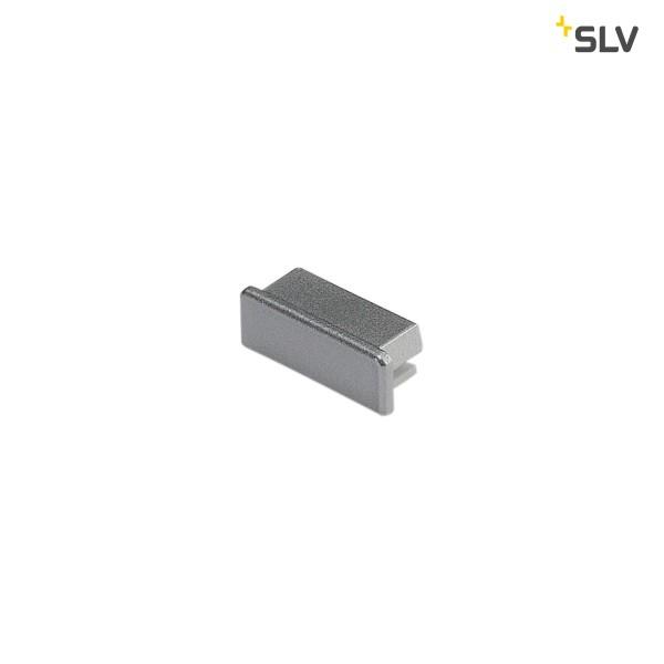 SLV 213774 Endkappen 2 Stück, silbergrau, flach, Glenos 2609