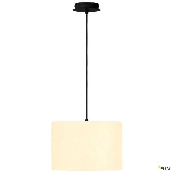 SLV 155560 + 155582 Fenda, Pendelleuchte, schwarz/weiß, Ø30cm, E27, max.60W