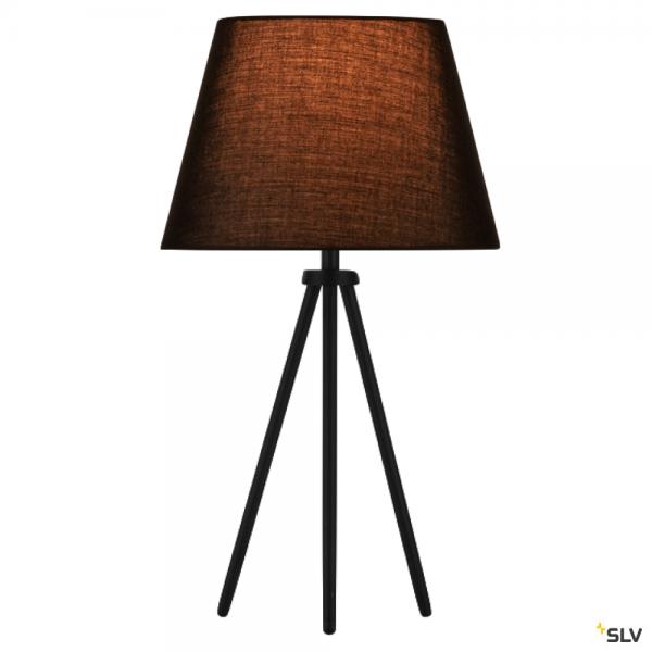 SLV 155540 + 156160 Fenda, Tischleuchte, schwarz, Ø30cm, E27, max.40W