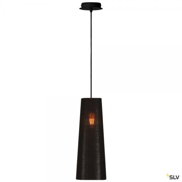 SLV 155560 + 156212 Fenda, Pendelleuchte, schwarz/kupfer, Ø15cm, E27, max.60W
