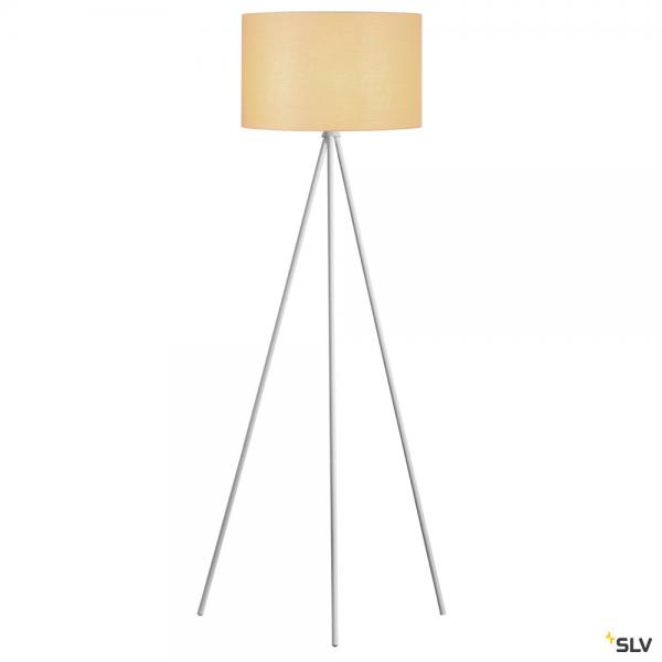 SLV 1003033 + 156113 Fenda, Stehleuchte, weiß/beige, Ø45,5cm, E27, max.40W