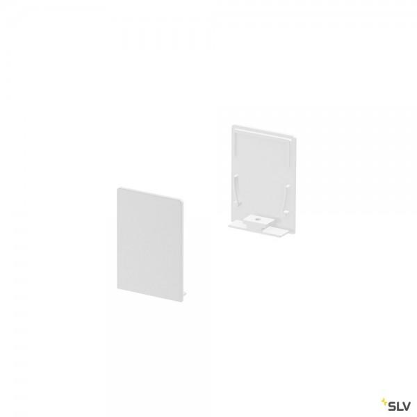 SLV 1000569 Grazia 20, Endkappen, weiß, hoch, 2 Stück